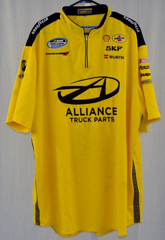 Brad Keselowski Alliance Penske Race Used Nascar Pit Crew
