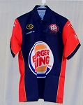 Matt DiBenedetto Burger King SIGNED NASCAR Pit Crew Shirt #3 MEDIUM