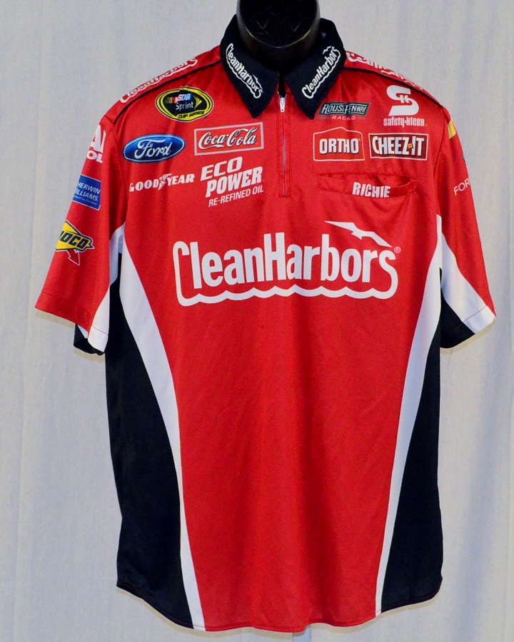 Nascar Pit Crew Shirts >> 2015 Greg Biffle Clean Harbors Race Used Nascar Pit Crew Shirt