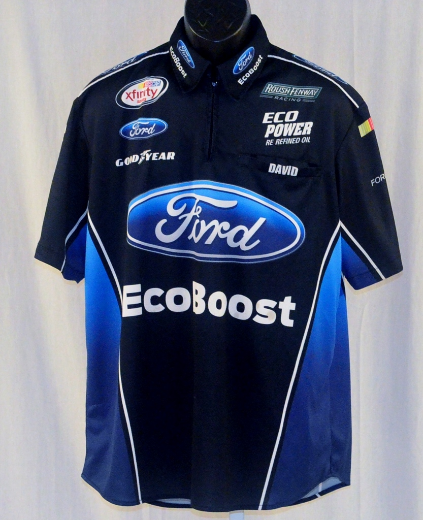 Nascar Pit Crew Shirts >> 2015 Bubba Wallace Ford Ecoboost Race Used NASCAR Pit Crew Shirt