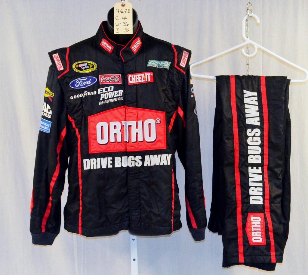 Nascar Pit Crew Shirts >> Greg Biffle Ortho Simpson SFI5 Race Used NASCAR Fire suit #4678 44/36/38