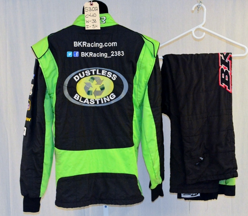 Racing Fire Suits >> Dustless Blasting Race Used Nascar Fire Suit Sfi 3 2a 5 Nomex