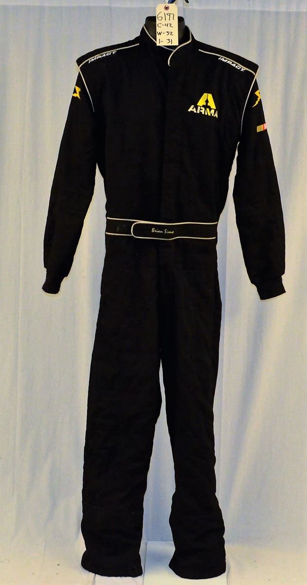 Racing Fire Suits >> Brian Simo Impact Racing Sfi 5 Race Used Driver Worn Fire Suit 6197 C42 W32 I31