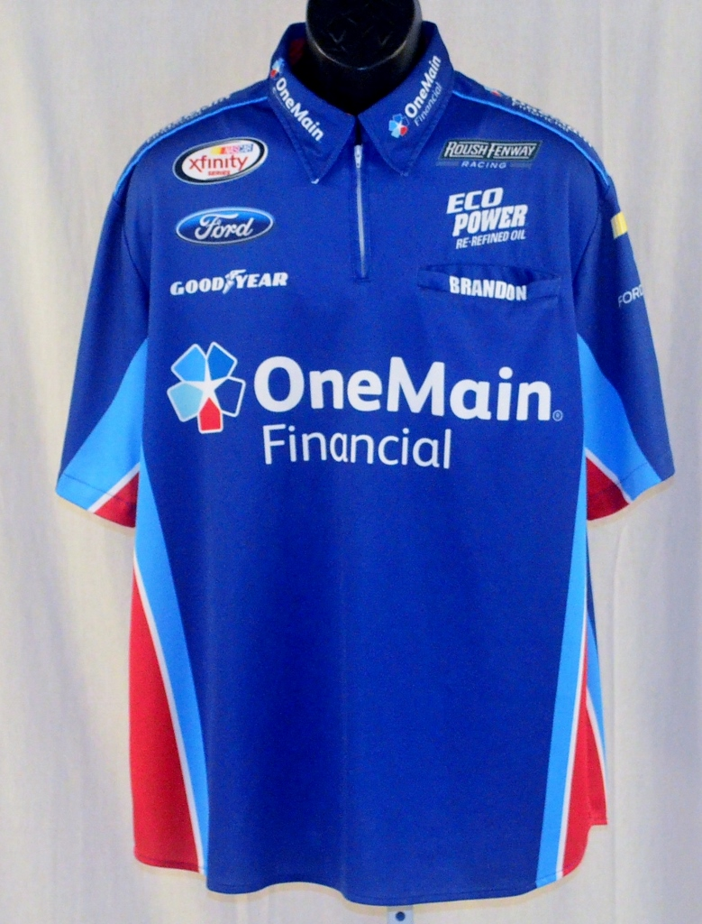 2015 Elliott Sadler One Main Financial NASCAR Pit Crew Shirt Onemain Financial