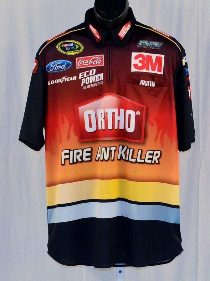Nascar Pit Crew Shirts >> 2014 Greg Biffle Ortho Race Used Nascar Pit Crew Shirt