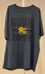 Ty Dillon RCR South Point Race Used Gray NASCAR T-shirt. SIZE XL