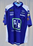 2018 Ricky Stenhouse 5th/3rd Bank Monster Race Used NASCAR Crew Shirt. SIZE XL