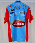 Richard Petty Almirola ARMOUR Race Used NASCAR Pit Crew Shirt STAINS