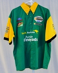 Team Australia Motorsports Aussie Vineyards Indy Race Used Pit Crew Shirt V3  XL