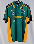 Team Australia Motorsports Aussie Vineyards Indy Race Used Pit Crew Shirt V2 XL