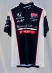 Sam Schmidt Mtrsprts Bowers&Wilkins Race Used Indy Pit Crew Shirt V2 LARGE