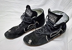 Sparco Black FIA Rated Used Racing Shoes. SIZE 45 (eu)/ 10.5 US