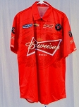 2015 Kevin Harvick Budweiser NASCAR Pit Crew Shirt. NEW! SIZE LARGE