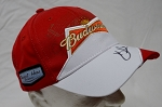 Kevin Harvick Budweiser Autographed Team Hat. Stewart-Haas Racing. New.