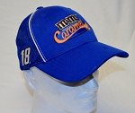 Kyle Busch NASCAR Caramels Race Used Hat worn in Victory Circle by crew member.
