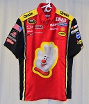 Vintage Jeff Burton Cheerios EMBROIDERED Race Used NASCAR Pit Crew Shirt. SIZE L