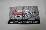 Coors Light NASCAR Xfinity Series Pole Flag. Kevin Harvick Daytona 2011
