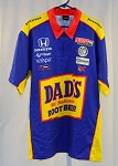 Graham Rahal Dad's Root Beer Race Used IZOD IndyCar Pit Crew Shirt. SIZE 2XL