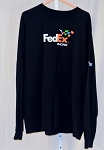 Denny Hamlin FedEx Race Used NASCAR Pit Crew Shirt. Long Sleeve. SIZE MEDIUM