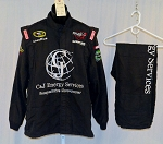 Terry Labonte C&J Energy Simpson SFI-5 Race Used NASCAR Racing Suit #4383 50/34/31