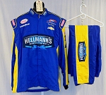 Dale Earnhardt Jr Hellmans CHEVY Simpson SFI5 Race Used NASCAR Fire Suit #4712 54/40/31