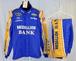 Richard Petty Motorsports Medallion Bank Sparco SFI-5 NASCAR Race Used Fire Suit #5218 48/38/32