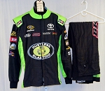 Dustless Blasting Race Used NASCAR Fire Suit. SFI-3.2A/5 NOMEX. #5302 40/38/34