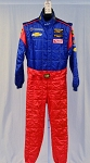 OMP IMSA FIA Rated Race Used Chevy Matt Bell DRIVER SUIT Fire Suit #5585 40/36/30