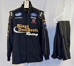 Simpson Carroll Shelby Engines SFI-5 Race Used NASCAR Fire Suit #5871 44/34/32