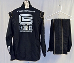 Simpson Carroll Shelby Engines SFI-5 Race Used NASCAR Fire Suit #5877 c50/w40/i30