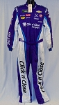 Bubba Wallace Click n' Close 2018 NASCAR Race Used Fire suit SPARCO SFI-5 #6027 c44/w38/i35
