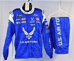 Bubba Wallace Air Force Sparco SFI-5 Race Used Monster NASCAR Suit #6046 C52/w38/i31