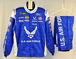 Bubba Wallace Air Force Sparco SFI-5 Race Used Monster NASCAR Suit #6047 c50/w38/i28