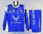 Bubba Wallace Air Force Sparco SFI-5 Race Used Monster NASCAR Suit #6051 c46/w36/i30