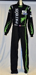 Johannes van Overbeek IMSA Patron Sparco FIA rated Race Used DRIVER SUIT #6084 c40/w32/i38
