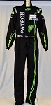 Johannes van Overbeek IMSA Patron Sparco FIA rated Race Used DRIVER SUIT #6085 c38/w32/i37