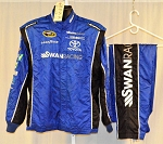 Swan Racing Impact SFI-5 Race Used NASCAR Fire Suit #6180 c48/w34/i30