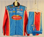 Aric Almirola Armour Sparco SFI-5 NASCAR Fire Suit. SIGNED by Petty/Almirola! #6347 c46/w36/i31