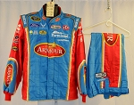 Aric Almirola Petty Armour Sparco SFI-5 NASCAR Racing Suit. SIGNED by Petty/Almirola #6352 c44/w32/i30