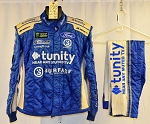Tunity Front Row Motorsports Monster Race Used Impact SFI-5 NASCAR Suit #6363 c46/w32/i30