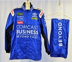 JGR MONSTER Comcast Business Simpson SFI-1 SINGLE LAYER NASCAR Racing Suit #6376 c46/w34/i31