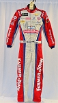 Bubba Wallace Farmer John SIGNED Race Used NASCAR DRIVER Suit. ROOKIE YEAR. #6387 38/34/32