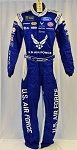 Aric Almirola Petty Air Force Monster Race Used NASCAR DRIVER Fire Suit #6413 c36/w32/i33