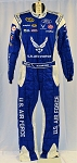 Aric Almirola Air Force Richard Petty Race Used NASCAR DRIVER Fire Suit #6419 c36/w32/i33
