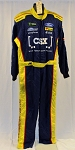 CSX Simpson SFI-5 NASCAR Monster Energy Race Used Pit Crew Fire Suit #6508 c54/w42/i31