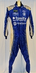 Tunity Front Row Motorsports Impact SFI-5 NASCAR Monster Pit Crew Fire Suit #6512 c44/w34/i33