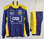 CSX Ford NASCAR Monster Impact SFI-5 Race Used Fire Suit #6514 c46/w34/i29