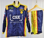 CSX Ford NASCAR Monster Impact SFI-5 Race Used Fire Suit #6515 c46/w36/i32