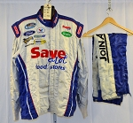 Save a lot Simpson SFI-5 Race Used NASCAR Fire Suit MISMATCH #6549 c50/w40/i33