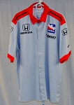Vision Racing Honda Indy Car Race Used Pit Crew Shirt-SIZE LARGE